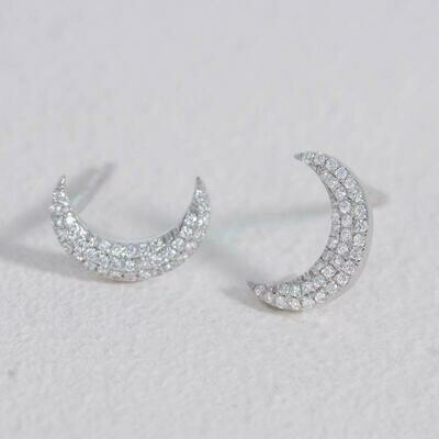 Ella Stein Mini Moons Earrings (Silver)