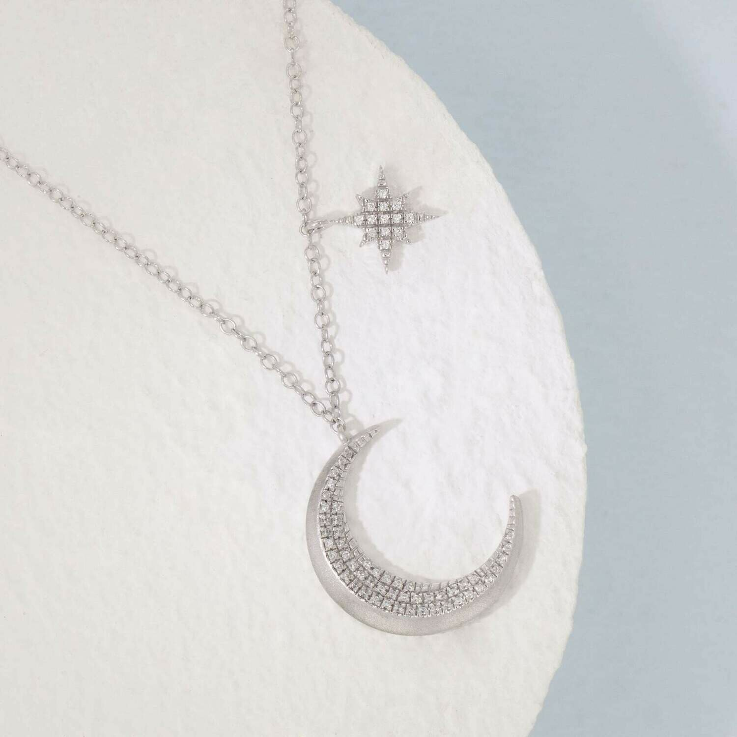 Ella Stein Fly Me To The Moon Necklace (Silver)
