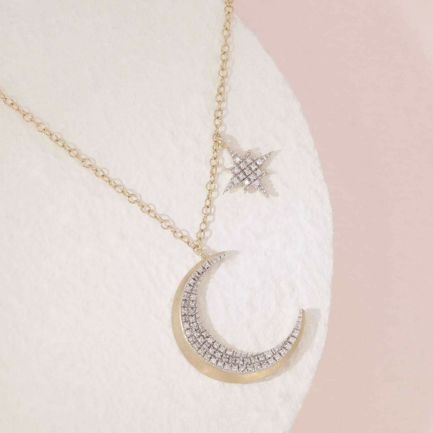 Ella Stein Fly Me To The Moon Necklace (Gold)