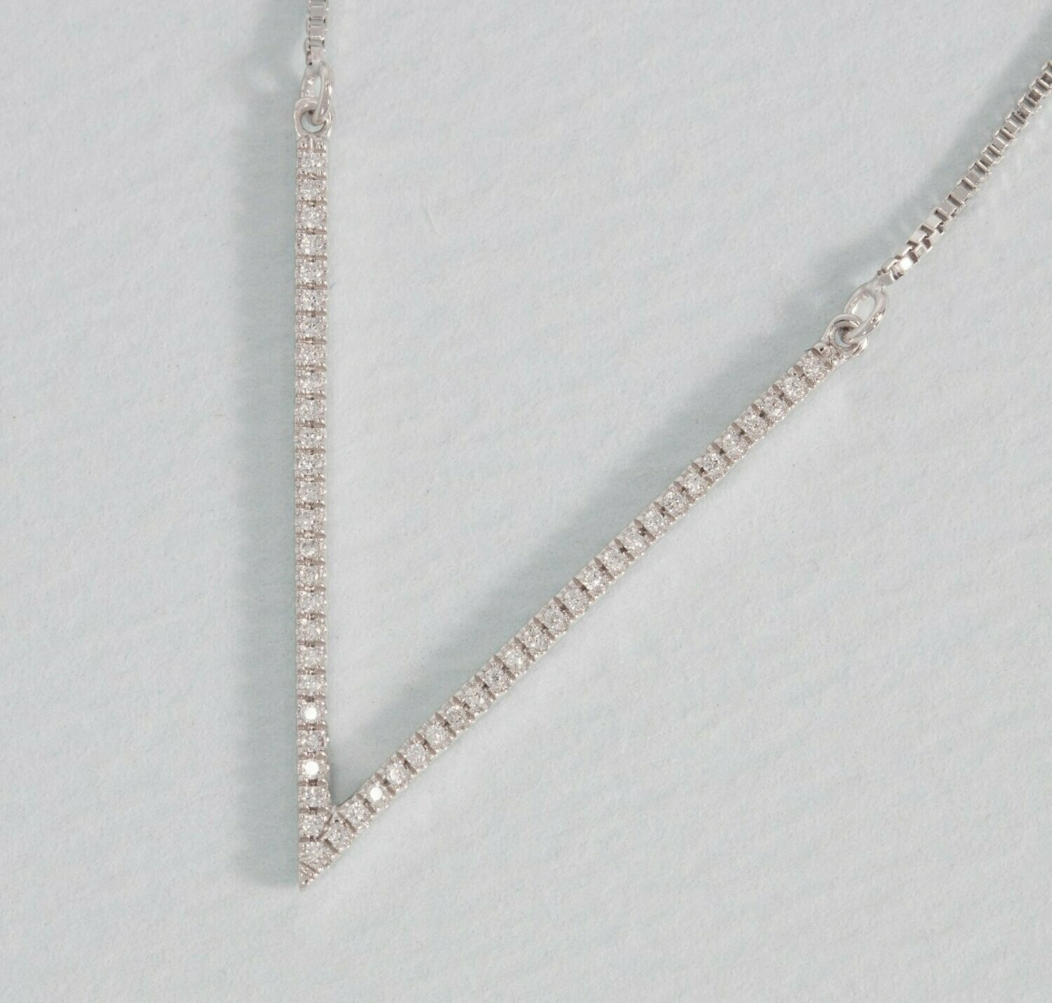 Ella Stein V to the T Necklace (Silver)