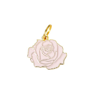 Pet ID Tag - Rose, Pink & Gold