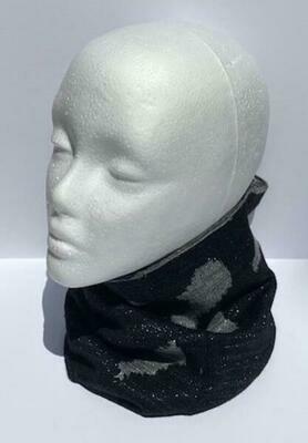 Colorado Camo Neck Warmer, Black/Gray