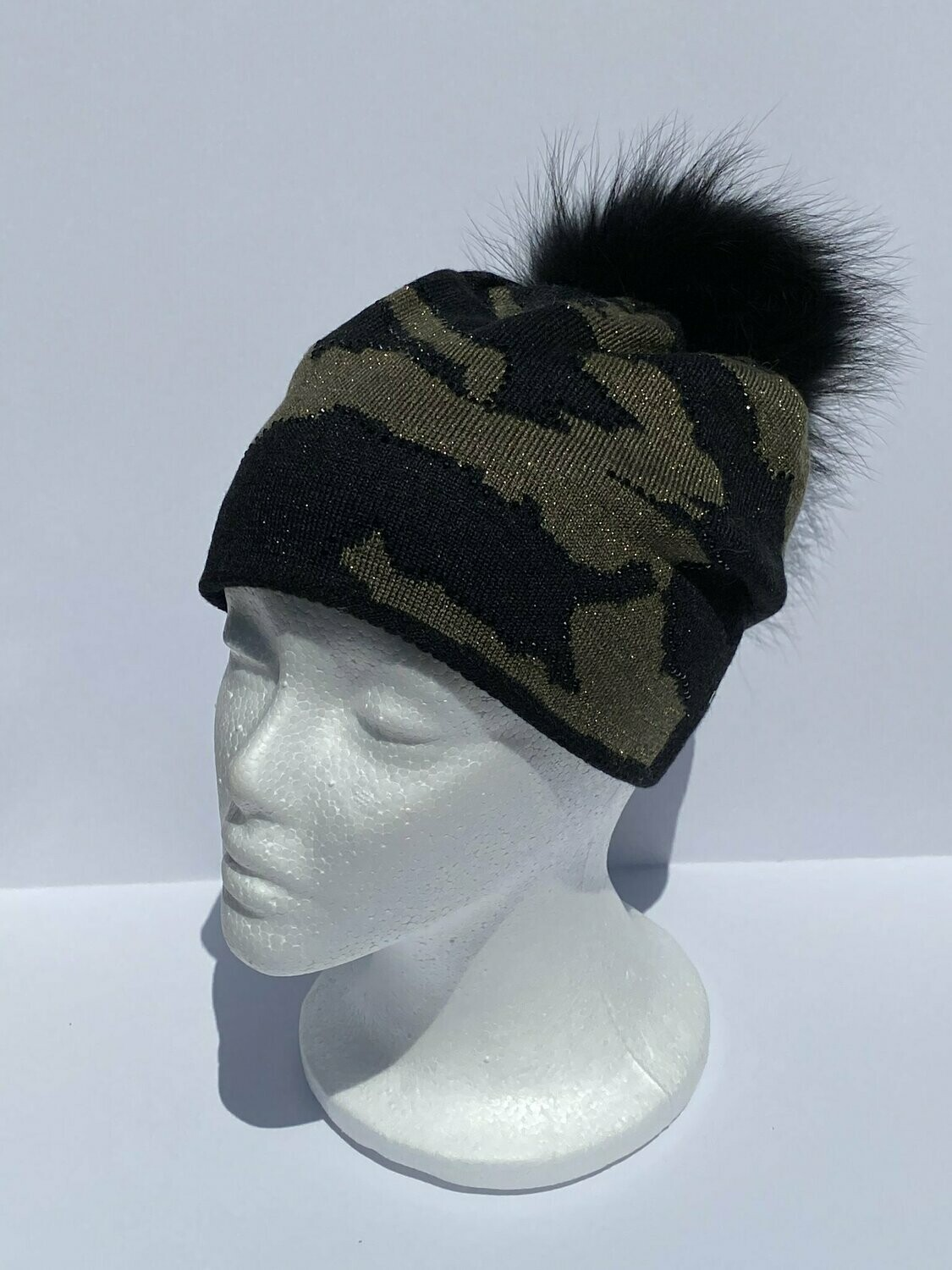 Haute Shore Colorado Camo Beanie, Black/Army