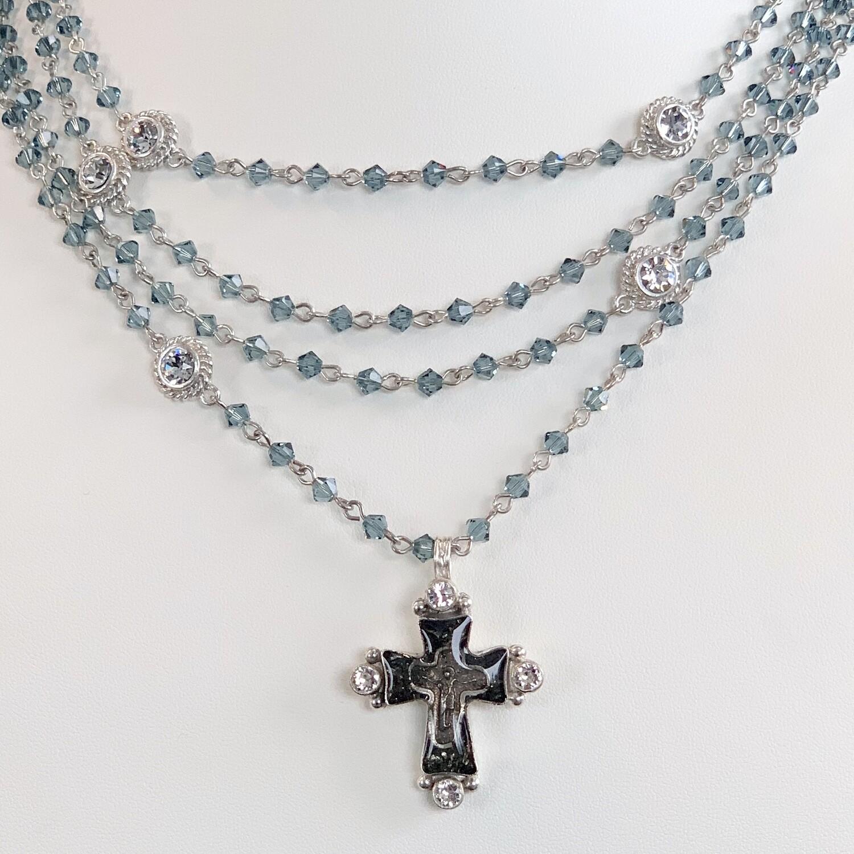 VSA Cross Magdalena, Indian Sapphire, Silver