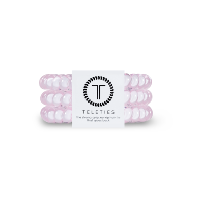 Teleties Large Hair Ties, Rose Water Pink
