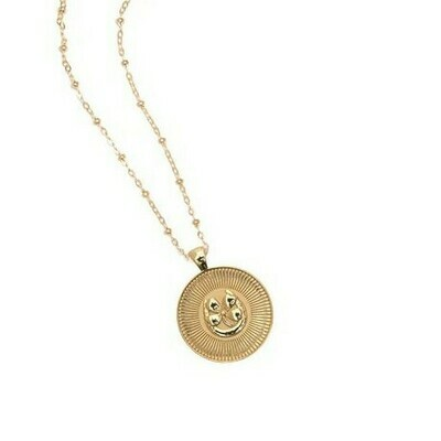 Jane Win Small LUCKY Coin Pendant