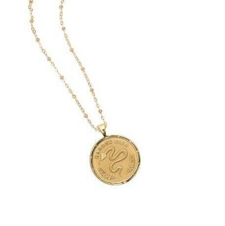 Jane Win Small PROTECT Coin Pendant