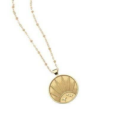 "Jane Winchester SMALL ""Strong"" Rising Sun Pendant"