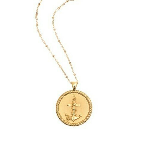 "Jane Winchester Original ""Strong"" Anchor Coin Necklace"