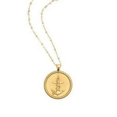 Jane Win Original STRONG Anchor Coin Pendant