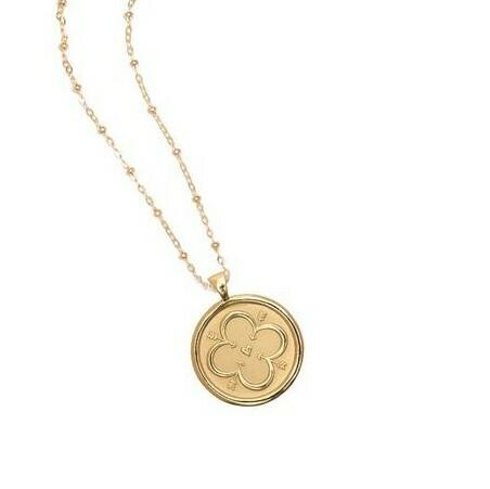 """Jane Win SMALL """"Love"""" Coin Pendant"""