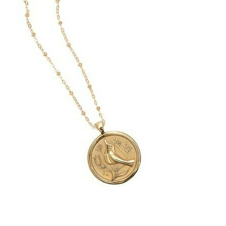 "Jane Winchester SMALL ""Peace"" Coin Pendant"