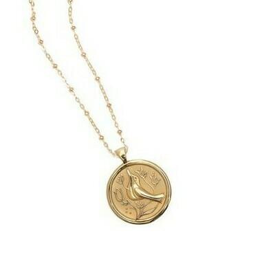 Jane Win Small PEACE Coin Pendant