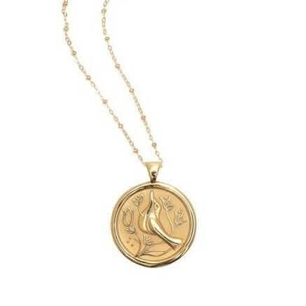 """Jane Win Original """"Peace"""" Coin Pendant"""