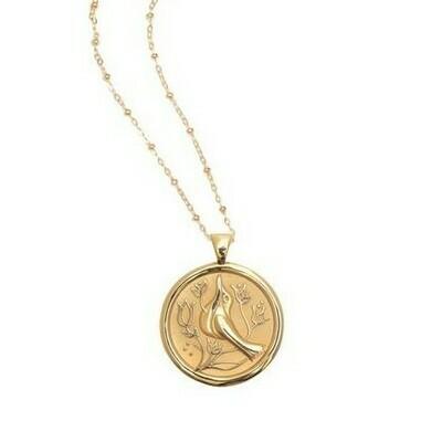 Jane Win Original PEACE Coin Pendant