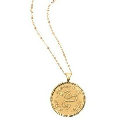 "Jane Win Original ""Protect"" Coin Pendant"