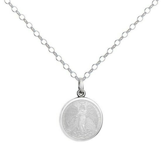 Colby Davis Angel Pendant, Small/White