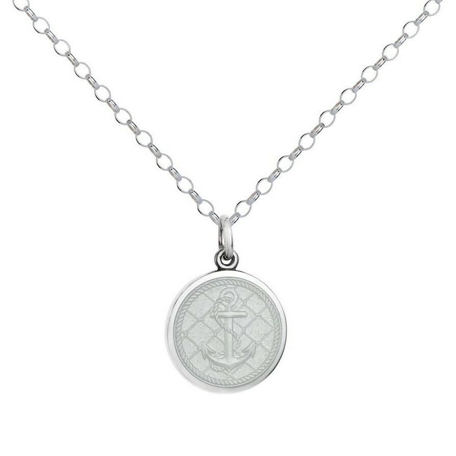 Colby Davis Anchor Pendant, Small/White