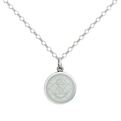 Colby Davis Anchor Pendant, Small/White