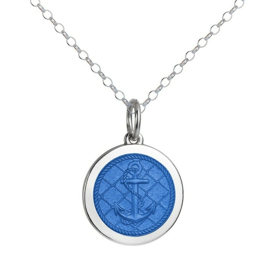 Colby Davis Anchor Pendant, Medium/French Blue