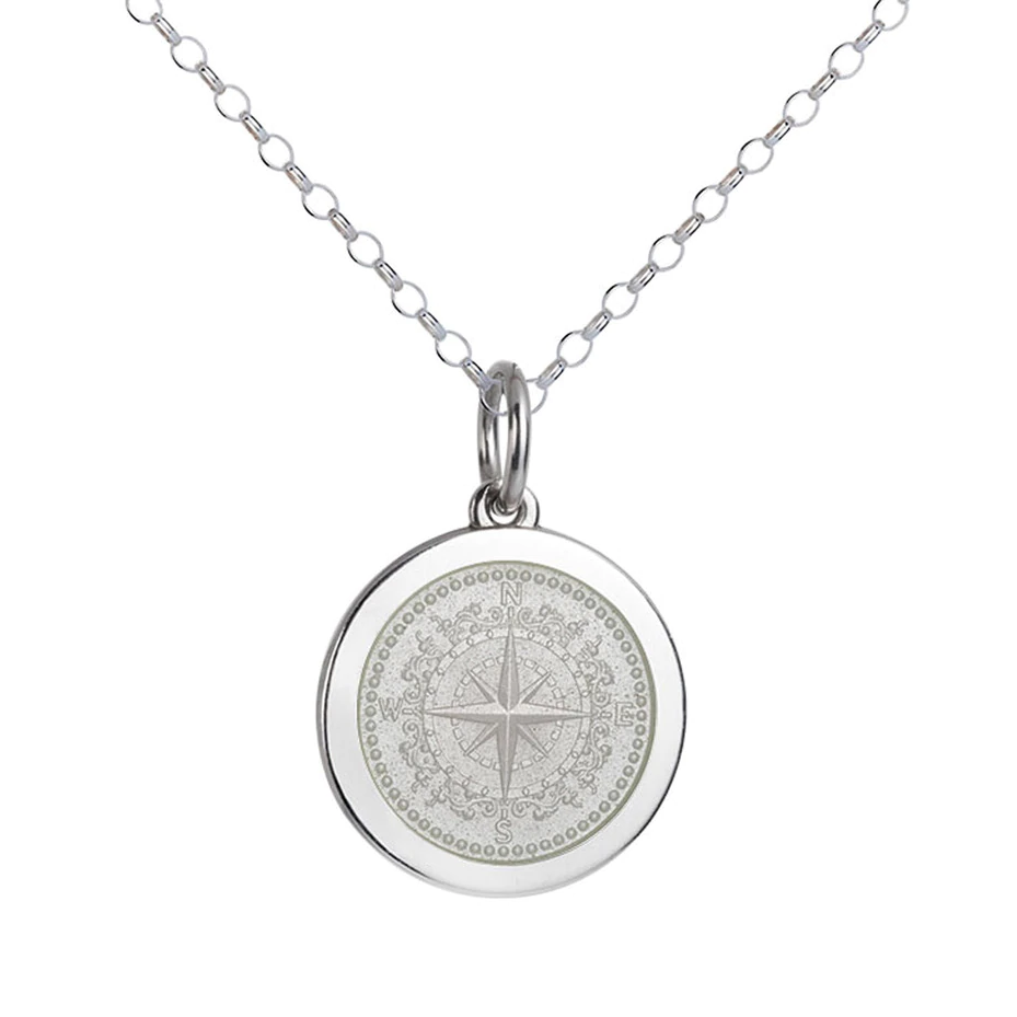 Colby Davis Compass Pendant, Medium/White