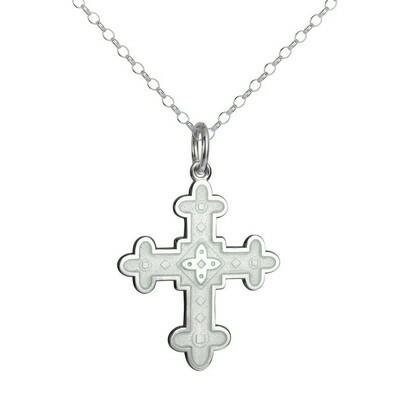 Colby Davis Byzantine Cross Pendant, White