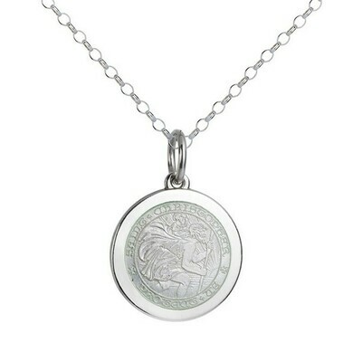 Colby Davis Saint Christopher Pendant, Medium/White