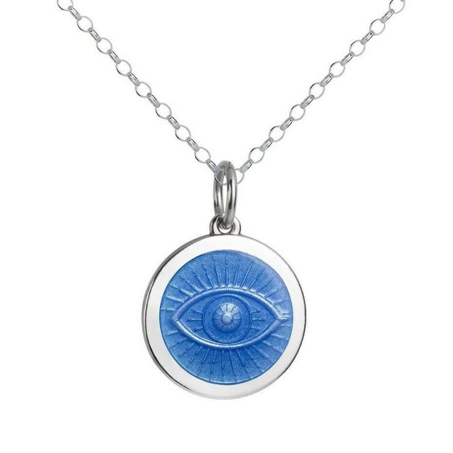 Colby Davis Evil Eye Pendant, Medium/French Blue