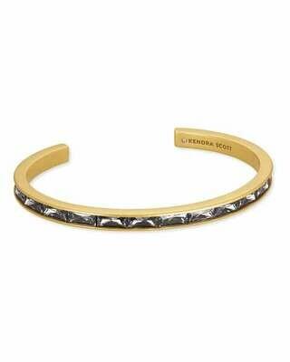 Kendra Scott Jack Vintage Gold Cuff Bracelet in Gray Crystal