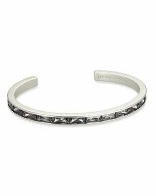 Kendra Scott Jack Silver Cuff Bracelet in Gray Crystal