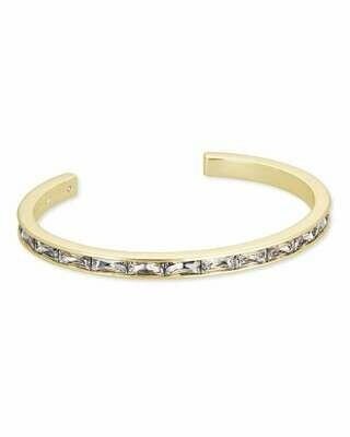 Kendra Scott Jack Gold Cuff Bracelet in Clear Crystal
