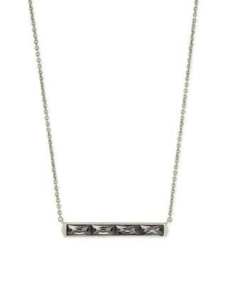 Kendra Scott Jack Silver Pendant Necklace in Gray Crystal