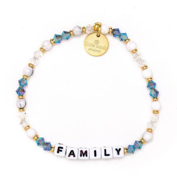 Little Words Project White FAMILY Bracelet