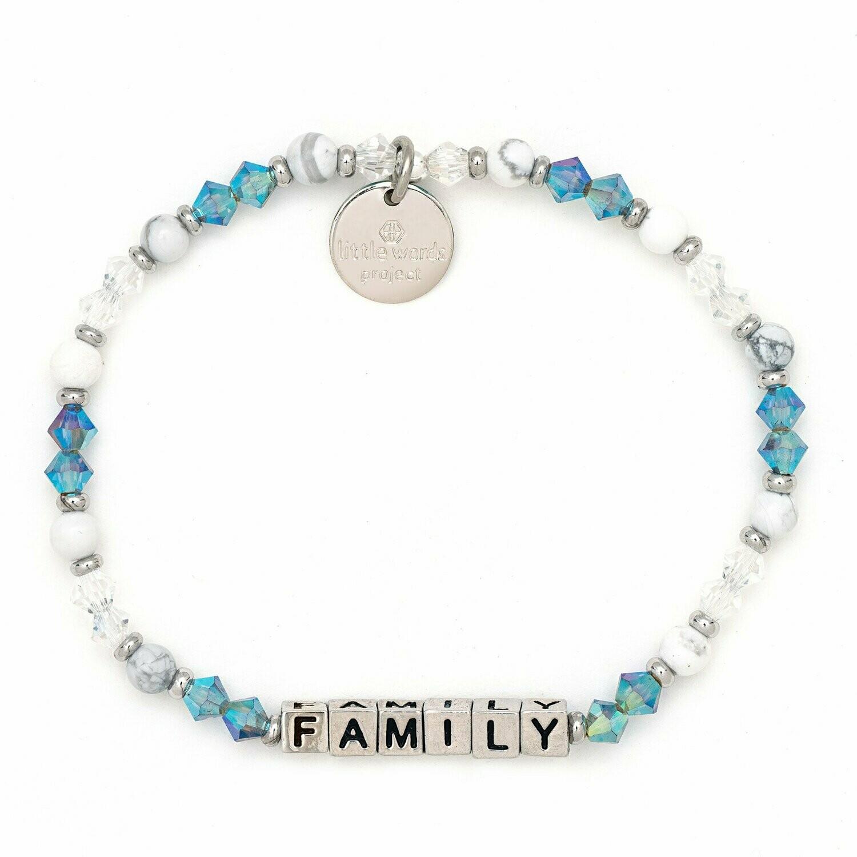 Little Words Project Silver FAMILY Bracelet