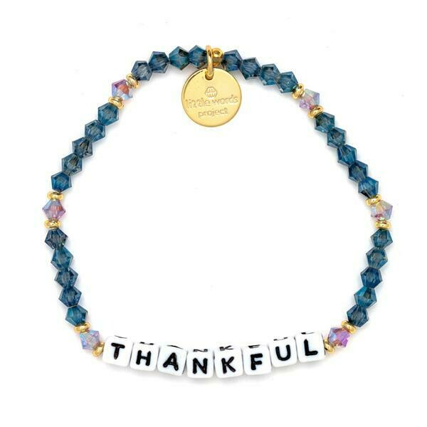 Little Words Project White THANKFUL Bracelet