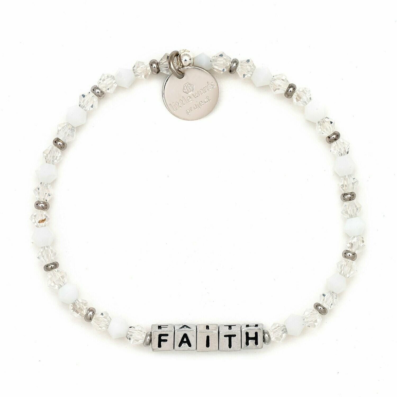 Little Words Project Silver FAITH Bracelet