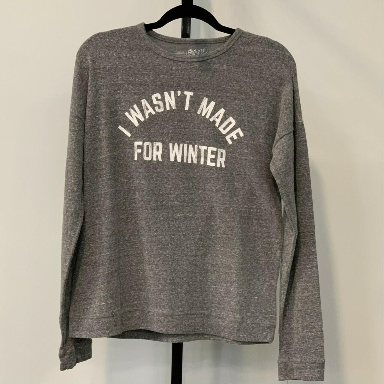 I WASN'T MADE FOR WINTER Super Soft Hachi Sweatshirt