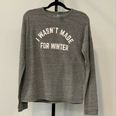 I WASN'T MADE FOR WINTER Super Soft Hachi Sweatshirt