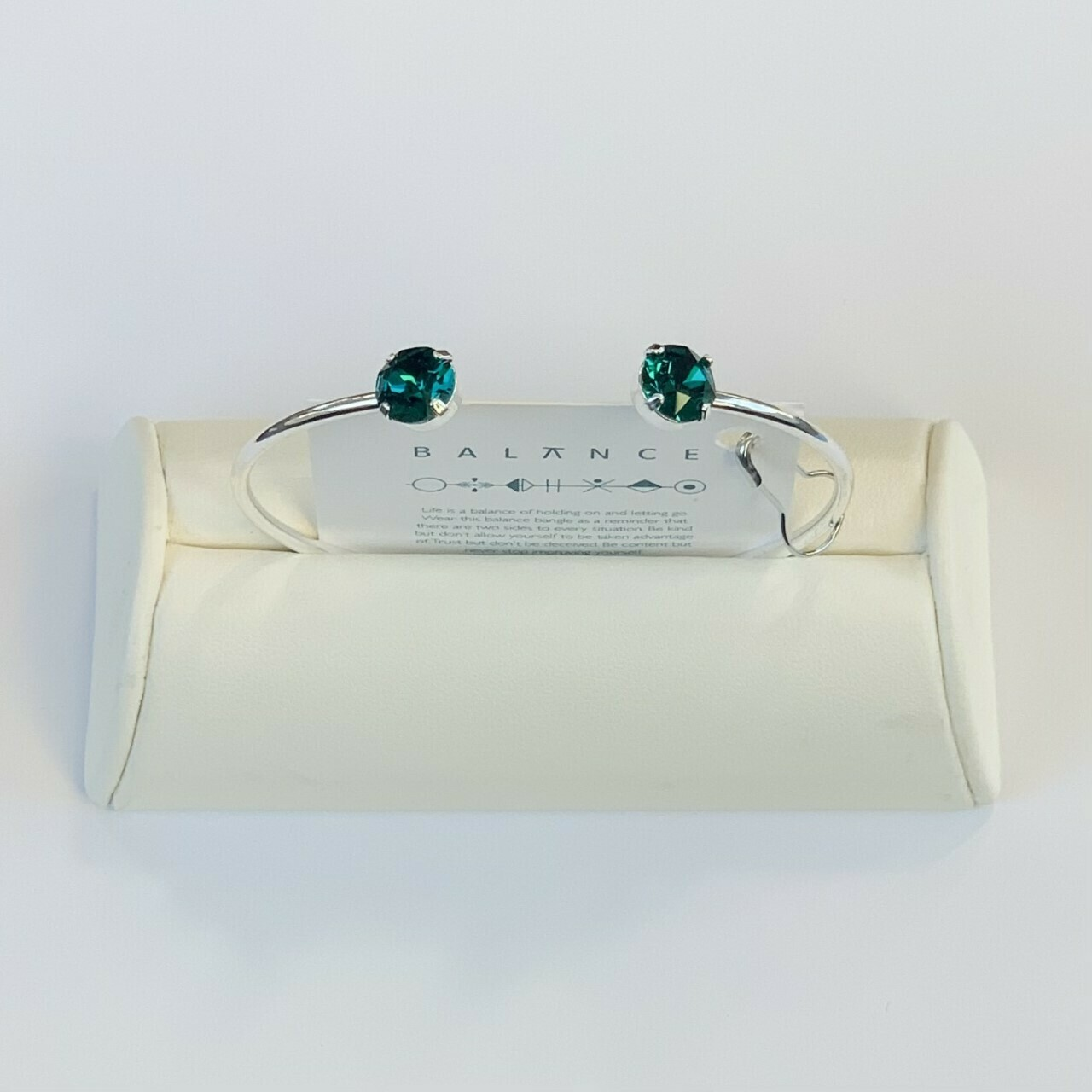 Balance Bracelet Silver/Emerald