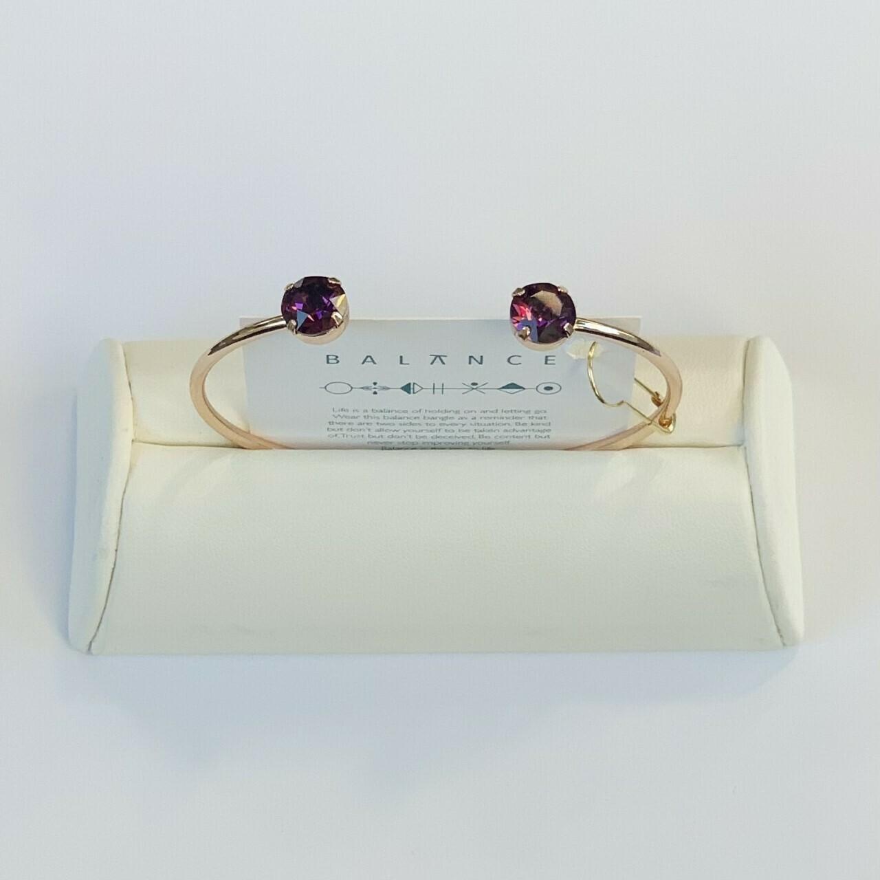 Balance Bracelet Gold/Amethyst