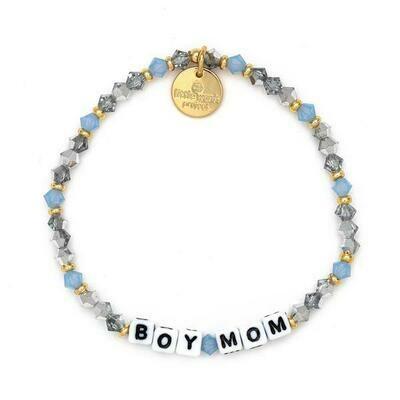 Little Words Project White BOY MOM Bracelet