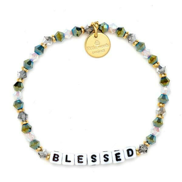 Little Words Project White BLESSED Bracelet