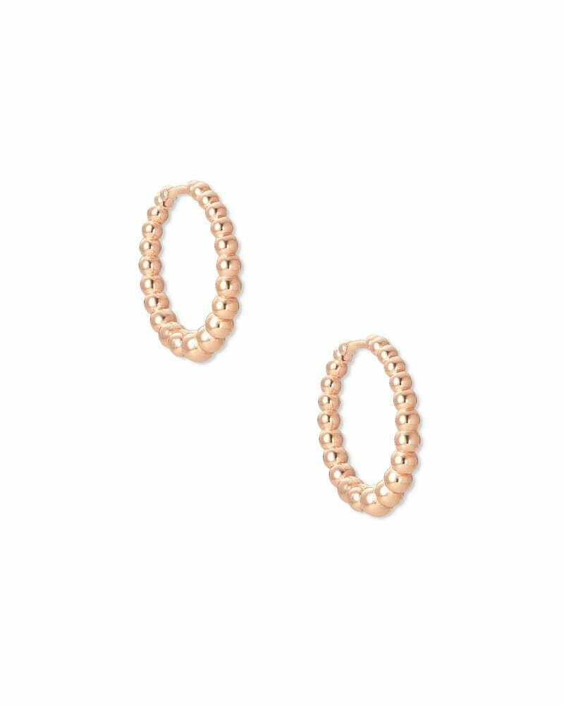 Kendra Scott Josie Huggie Earrings in Rose Gold