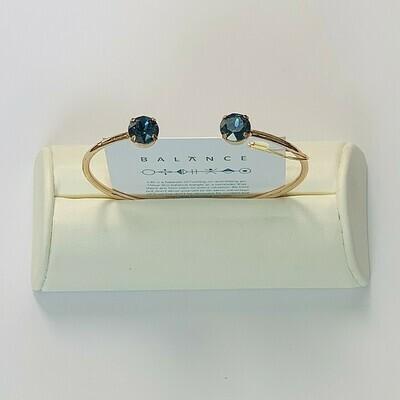 Balance Bracelet Gold/Montana Blue