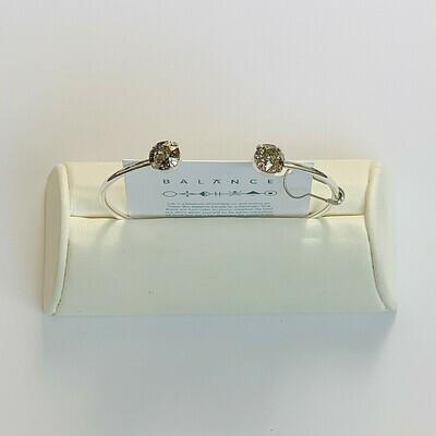 Balance Bracelet Silver/Gold Patina