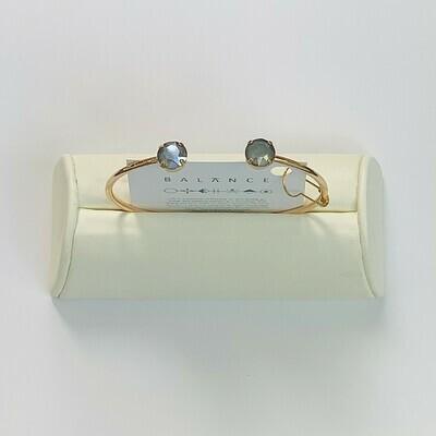 Balance Bracelet Gold/Dark Gray