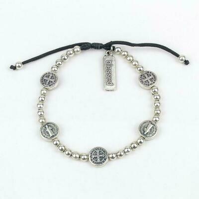 MSMH Benedictine Birthday Blessing Bracelet (Silver)