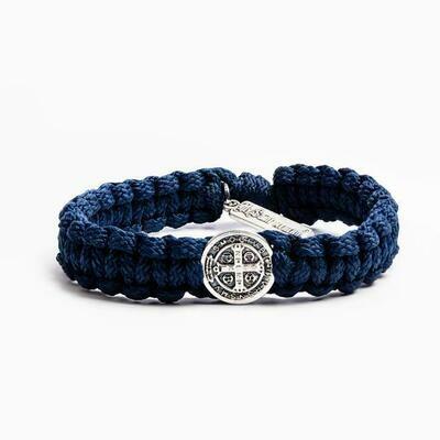 MSMH One Blessing Bracelet For Him (Silver/Navy)