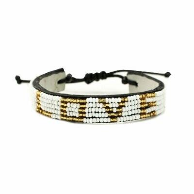 Love is Project Love Bracelet - White/Gold