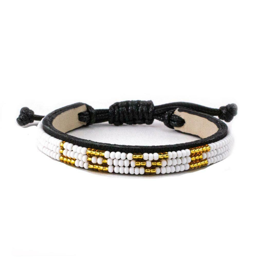 Love is Project Skinny Love Bracelet - White/Gold
